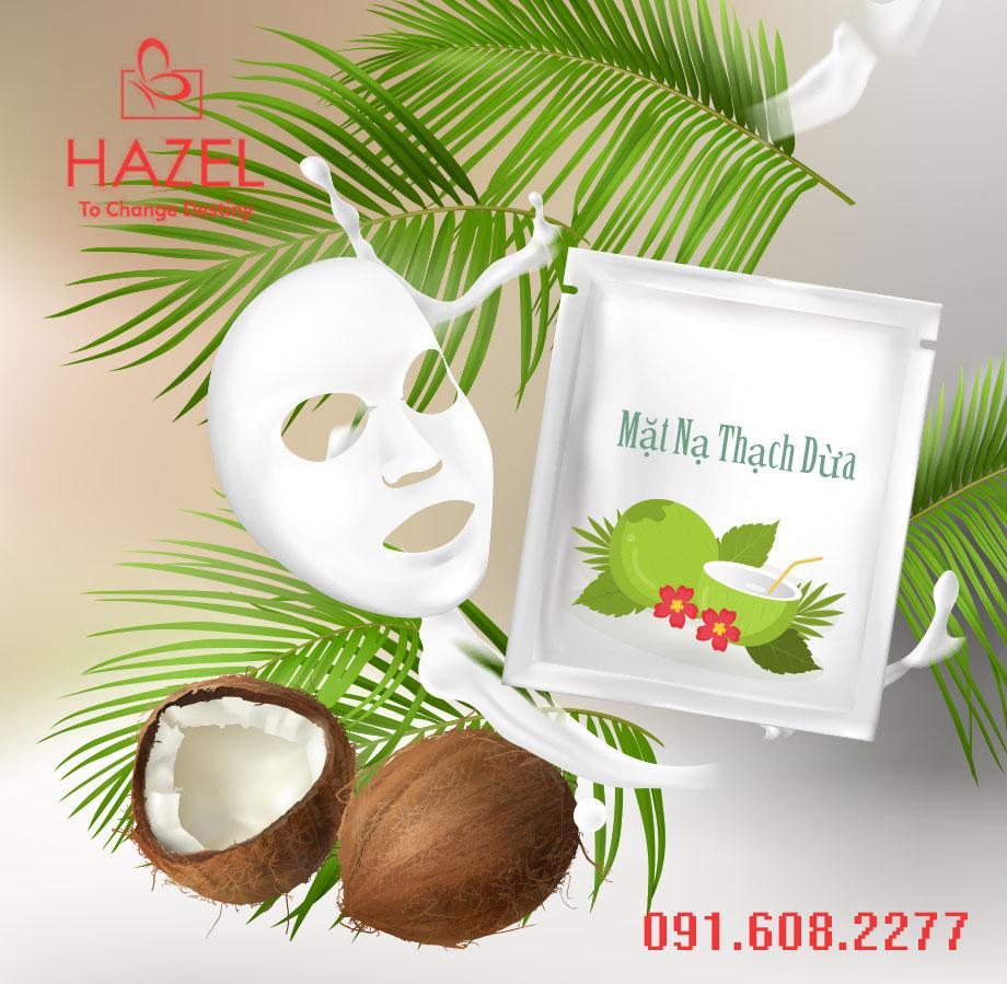 Gia công mặt nạ thạch dừa